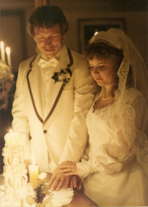 Kim and Ronald_unity candle_wedding June 21 1985