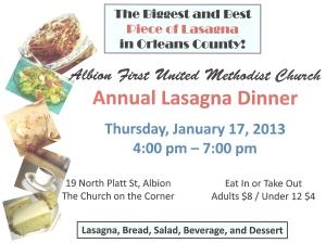 2013 Lasagna Dinner Poster0001
