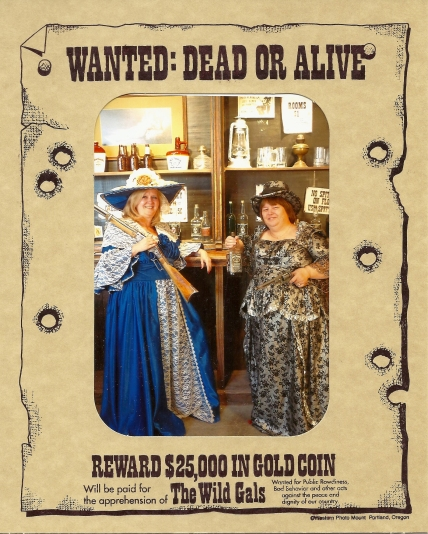 Kim and Bonnie_Old Tucson Wanted Poster