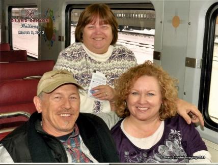 Kim_Ronald_Lisa on Grand Canyon Train