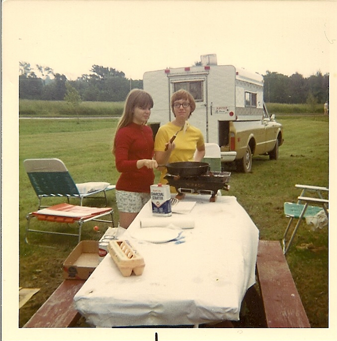 Camping_Kim and Sharon_1972