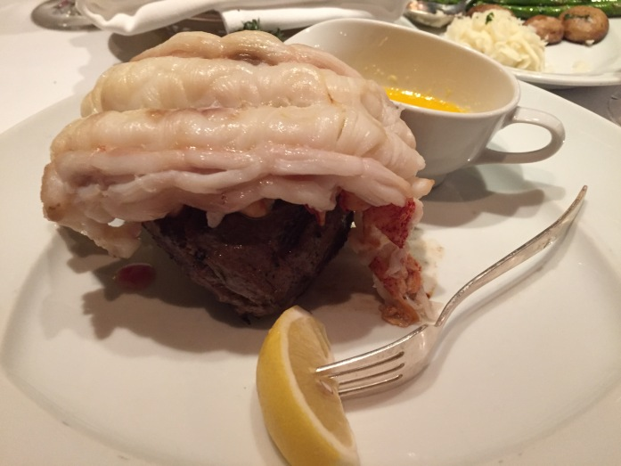 Dinner at Pinnacle Grill_12 oz Lobster Tail on Petite Filet